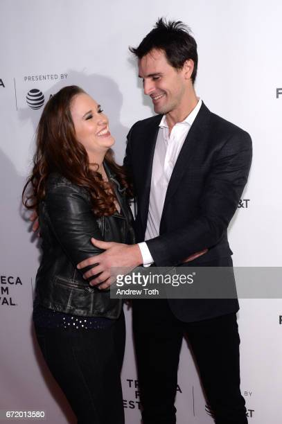 Ashleigh Bell and Kane Manera attend the 'I Am Heath Ledger' premiere during the 2017 Tribeca Film Festival at Spring Studios on April 23 2017 in New...