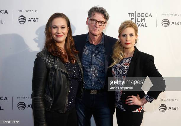 Ashleigh Bell Derik Murray and Kate Ledger attend 'I Am Heath Ledger ' during the 2017 Tribeca Film Festival at Spring Studios on April 23 2017 in...