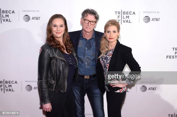 Ashleigh Bell director Derik Murray and Kate Ledger attend the 'I Am Heath Ledger' premiere during the 2017 Tribeca Film Festival at Spring Studios...