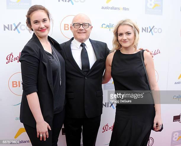 Ashleigh Bell Kim Ledger and Olivia Ledger arrive at Australians In Film Heath Ledger Scholarship Dinner on June 1 2016 in Beverly Hills California