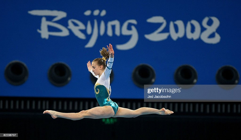 Ashleigh Brennan of Australia performs on the balance beam during the women's artistic gymnastics event held at the National Indoor Stadium during Day 2 of the 2008 Summer Olympic Games on August 10, 2008 in Beijing, China.