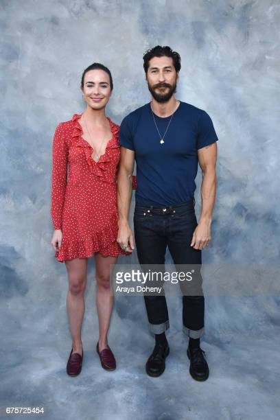 Ashleigh Brewer and Ryan Porter attend the Australians in Film hosts the premiere of Spike TV's 'I Am Heath Ledger' event on May 1 2017 in Los...