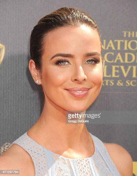 Ashleigh Brewer arrives at the 42nd Annual Daytime Emmy Awards at Warner Bros Studios on April 26 2015 in Burbank California