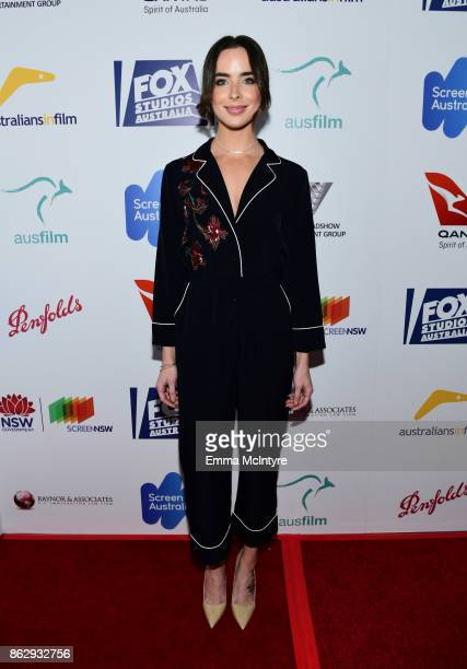Ashleigh Brewer attends the 6th Annual Australians in Film Award Benefit Dinner at NeueHouse Hollywood on October 18 2017 in Los Angeles California