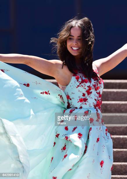 Ashleigh Brewer is seen filming The Bold and The Beautiful at the Opera House on February 13 2017 in Sydney Australia
