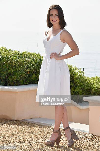 Ashleigh Brewer pose during a photocall for the TV Show ' The Bold and the Beautiful' as part of the 54th MonteCarlo Television Festival on June 8...