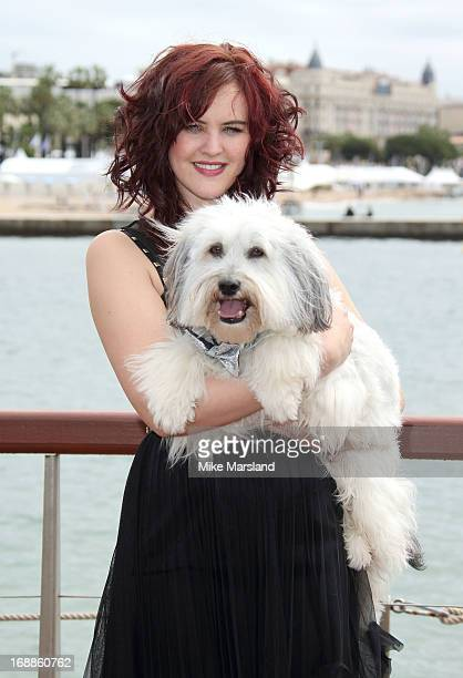 Ashleigh Butler and Pudsey attend the photocall for 'Pudsey The Movie' at The 66th Annual Cannes Film Festival on May 16 2013 in Cannes France