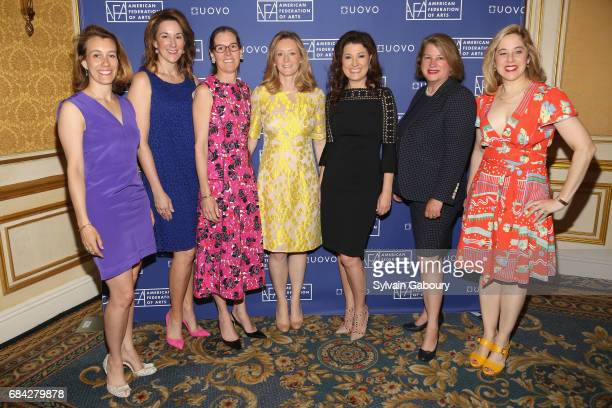 Ashleigh Fernandez Jennifer New Lee White Galvis Clare McKeon Capera Ryan Charlotte Eyerman and Elizabeth Belfer attend American Federation of Arts...