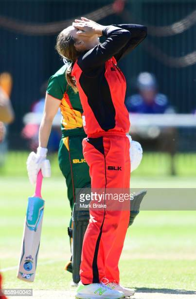 Ashleigh Gardener during the WNCL match between South Australia and Tasmania at Adelaide Oval No2 on October 8 2017 in Adelaide Australia