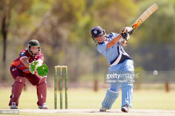 Ashleigh Gardner bats during the National Indigenous Cricket Championships match between New South Wales and Queensland on February 10 2017 in Alice...