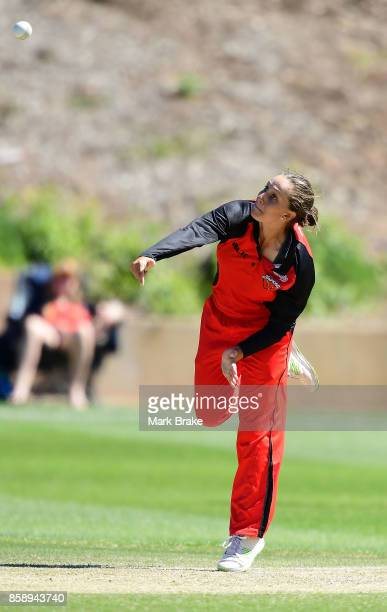 Ashleigh Gardner during the WNCL match between South Australia and Tasmania at Adelaide Oval No2 on October 8 2017 in Adelaide Australia