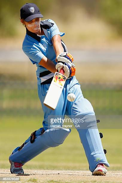 Ashleigh Gardner of New South Wales bats against the Northern Territory during the 20415 Imparja Cup on February 13 2015 in Alice Springs Australia