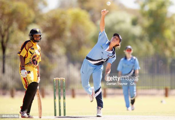 Ashleigh Gardner of New South Wales bowls during the National Indigenous Cricket Championships match between Western Australia and New South Wales on...