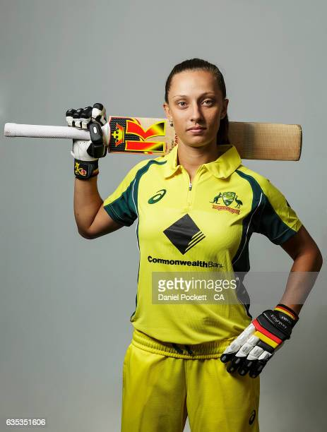 Ashleigh Gardner poses during the Southern Stars Twenty20 Headshots Session on February 14 2017 in Melbourne Australia
