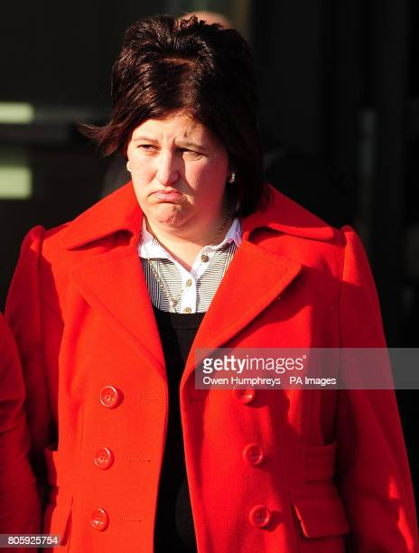 Ashleigh Hall's mother Andrea outside Teesside Crown Court Middlesbrough following the conviction of Peter Chapman for the murder of the 17 year old