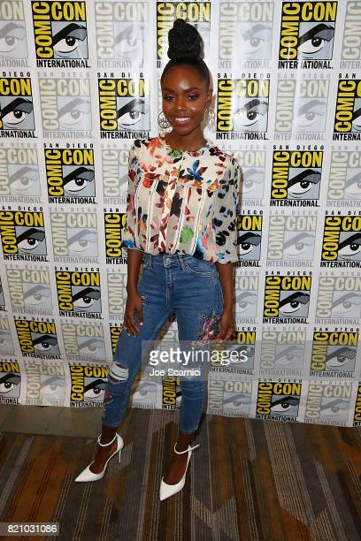 Ashleigh Murray arrives at the 'Riverdale' press line at ComicCon International 2017 on July 22 2017 in San Diego California