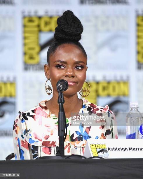 Ashleigh Murray attends 'Riverdale' special video presentation and QA during ComicCon International 2017 at San Diego Convention Center on July 22...