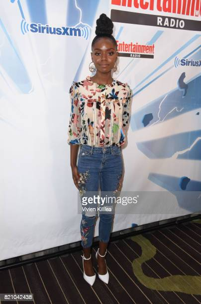 Ashleigh Murray attends SiriusXM's Entertainment Weekly Radio Channel Broadcasts From Comic Con 2017 at Hard Rock Hotel San Diego on July 22 2017 in...