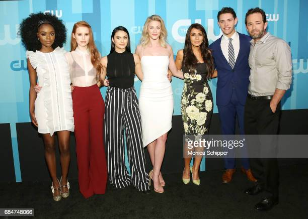 Ashleigh Murray Madelaine Petsch Camila Mendes Lili Reinhart Marisol Nichols Casey Cott and Luke Perry attend the 2017 CW Upfront on May 18 2017 in...