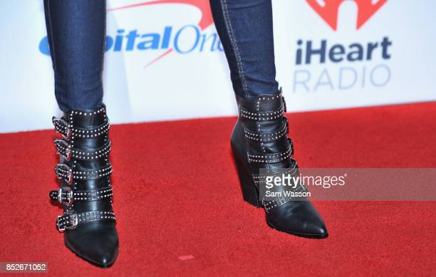 Ashleigh Murray shoe detail attends the 2017 iHeartRadio Music Festival at TMobile Arena on September 23 2017 in Las Vegas Nevada