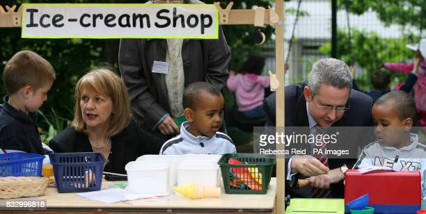 Ashleigh Price age 4 Beverley Hughes Minister for Children and Families Ducale Hussain Burallea age 4 Ivan Lewis Minister for Care Services and Ally...