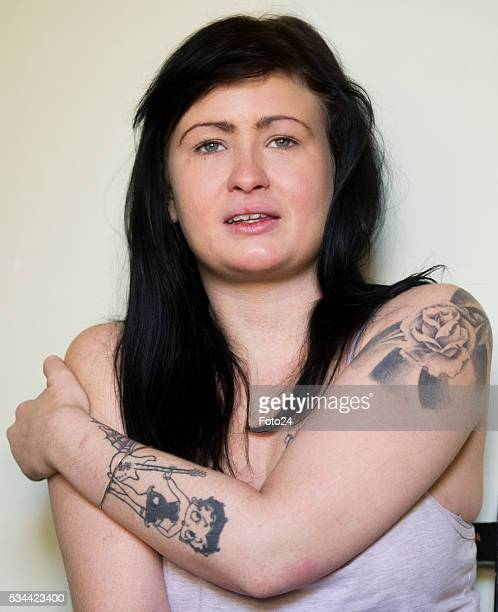 Ashleigh Schultz the Obz Café waitress who fell victim to alleged racism by a customer poses during an interview on May 07 2016 in Cape Town South...