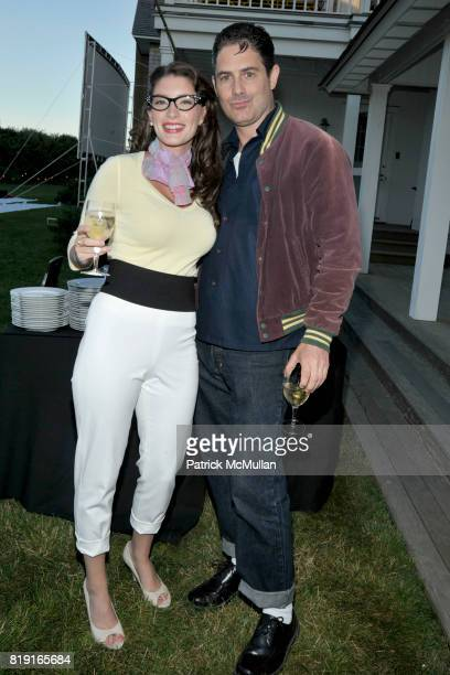 Ashley Anderson and Zach Galligan attend THE CINEMA SOCIETY DIOR BEAUTY host a screening of 'GREASE SingALong' at Katie Lee's Beach House on July 2...