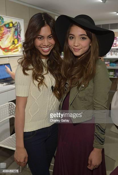 Ashley Argota and Rowan Blanchard attends the Murad LA Flagship Store Grand Opening on November 5 2014 in Los Angeles California