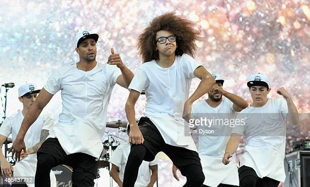 Ashley Banjo Perri Kiely and Diversity perform onstage during the Invictus Games Closing Concert at the Queen Elizabeth Olympic Park on September 14...
