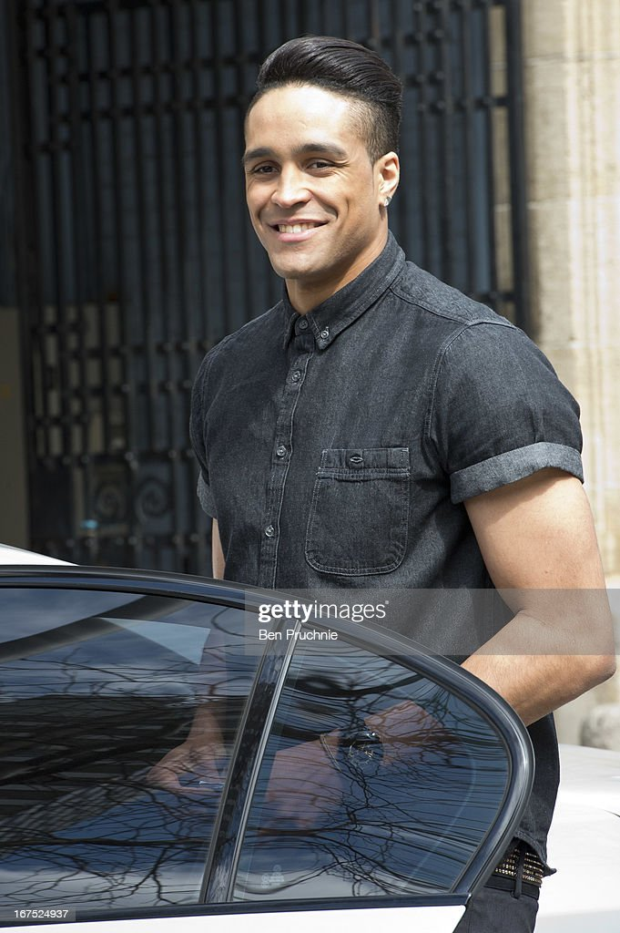 Ashley Banjo sighted departing ITV Studios on April 26, 2013 in London, England.