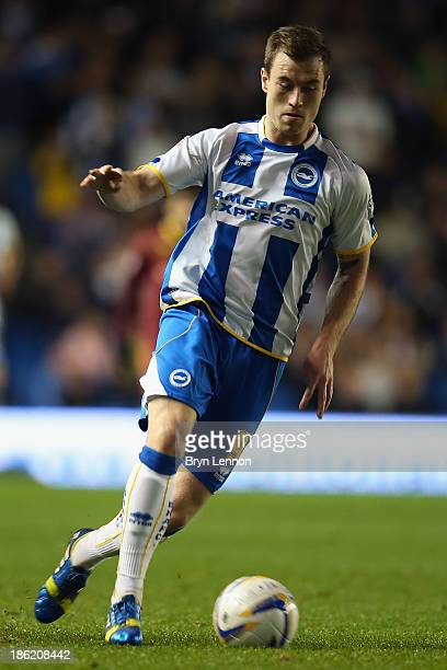 Ashley Barnes of Brighton and Hove Albion in action during the Sky Bet Championship match between Brighton Hove Albion and Watford at Amex Stadium on...