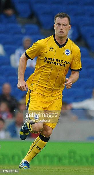 Ashley Barnes of Brighton during the pre season friendly match between Brighton Hove Albion and Norwich City at The Amex Stadium on July 30 2013 in...