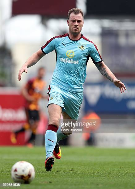 Ashley Barnes of Burnley in action during the preseason friendly match between Bradford City and Burnley at Valley Parade on July 23 2016 in Bradford...