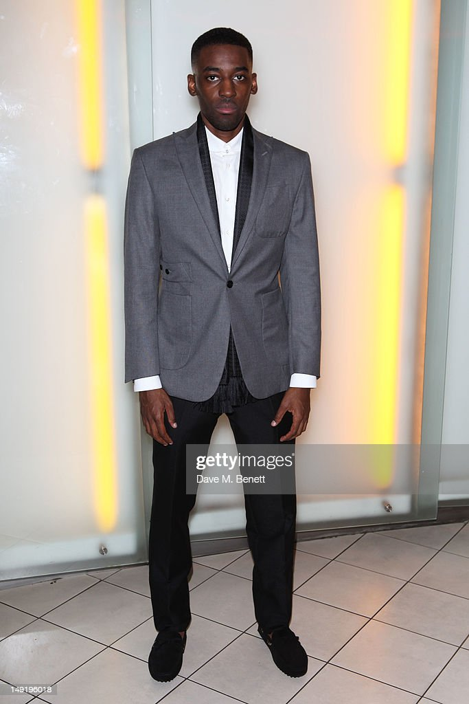 Ashley Bashy Thomas attends 'The Man Inside' UK film premiere at the Vue Leicester Square on July 24, 2012 in London, England.