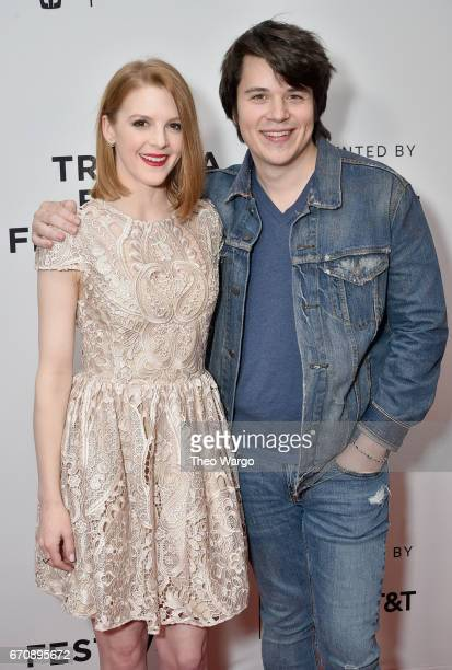 Ashley Bell and Mickey Keating attends the 'Psychopaths' Premiere during 2017 Tribeca Film Festival at Cinepolis Chelsea on April 20 2017 in New York...