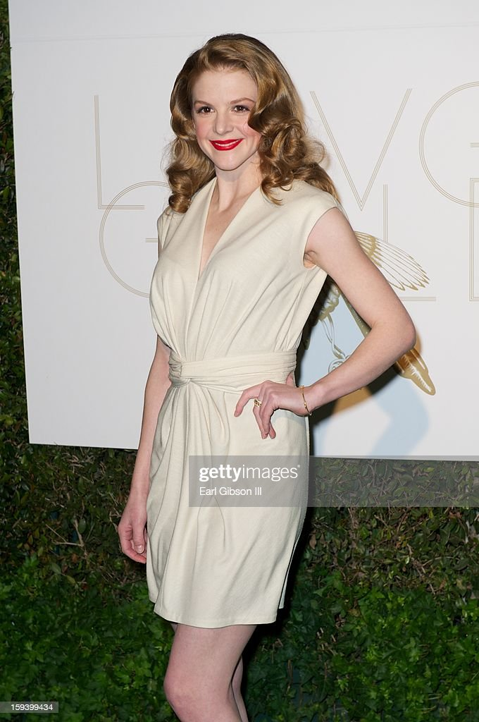 Ashley Bell attends the LoveGold party at Chateau Marmont on January 12, 2013 in Los Angeles, California.