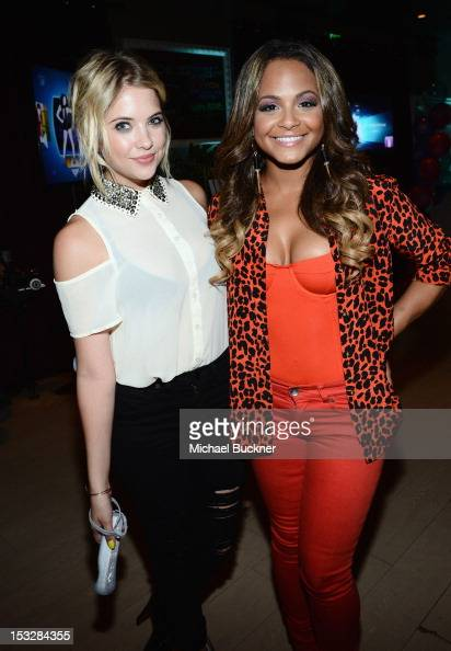 Ashley Benson and Christina Milian attend The Launch Of Just Dance 4 presented by Ubisoft at Lexington Social House on October 2 2012 in Hollywood...