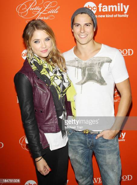 Ashley Benson and Sean Faris arrive at the 'Pretty Little Liars' celebrates Halloween episode held at Hollywood Forever on October 15 2013 in...