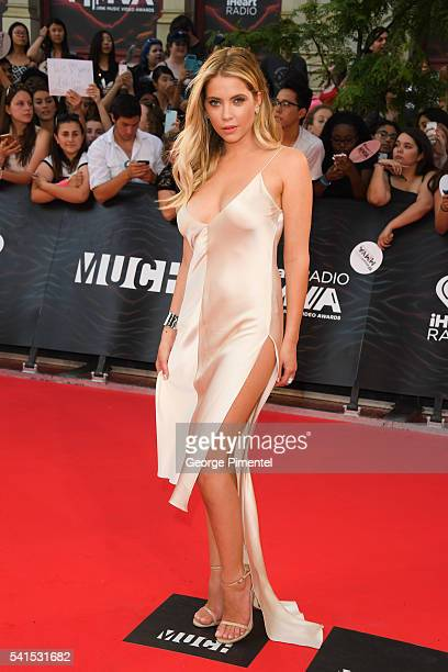 Ashley Benson arrives at the 2016 iHeartRADIO MuchMusic Video Awards at MuchMusic HQ on June 19 2016 in Toronto Canada