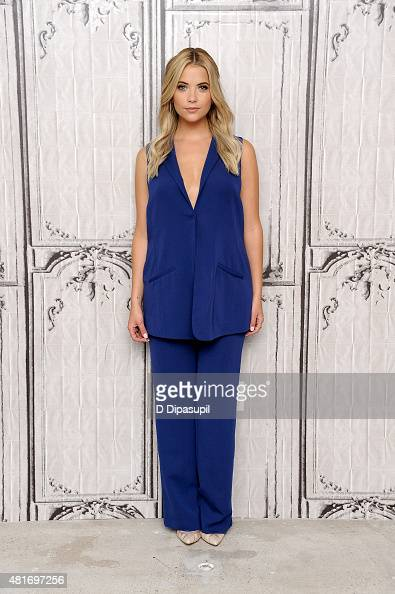 Ashley Benson attends AOL BUILD Speaker Series to discuss her film 'Pixels' at AOL Studios In New York on July 23 2015 in New York City