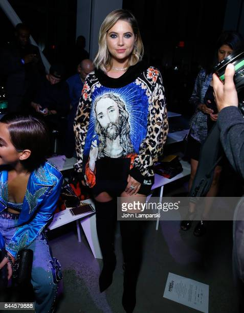Ashley Benson attends Jeremy Scott collection during the September 2017 New York Fashion Week The Shows on September 8 2017 in New York City