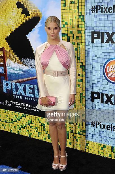 Ashley Benson attends 'Pixels' New York premiere at Regal EWalk on July 18 2015 in New York City