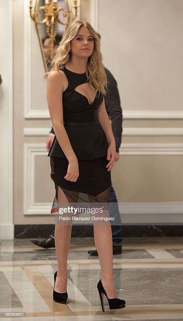 <a gi-track='captionPersonalityLinkClicked' href=/galleries/search?phrase=Ashley+Benson&family=editorial&specificpeople=594114 ng-click='$event.stopPropagation()'>Ashley Benson</a> attends 'Springbreakers' Photocall at Villamagna Hotel on February 21, 2013 in Madrid, Spain.