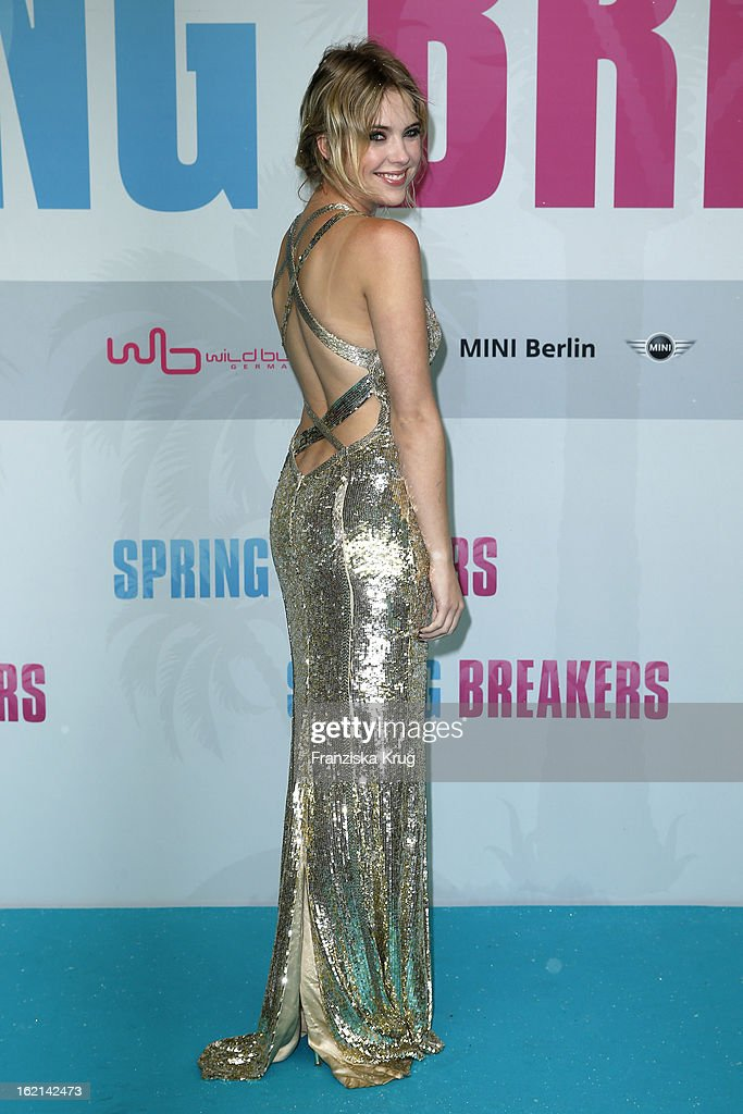 <a gi-track='captionPersonalityLinkClicked' href=/galleries/search?phrase=Ashley+Benson&family=editorial&specificpeople=594114 ng-click='$event.stopPropagation()'>Ashley Benson</a> attends the German premiere of 'Spring Breakers' at the cinestar Potsdamer Platz on February 19, 2013 in Berlin, Germany.
