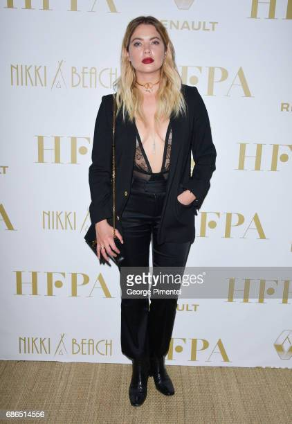 Ashley Benson attends the Hollywood Foreign Press Association's 2017 Cannes Film Festival Event in honour of the International Rescue Committee...
