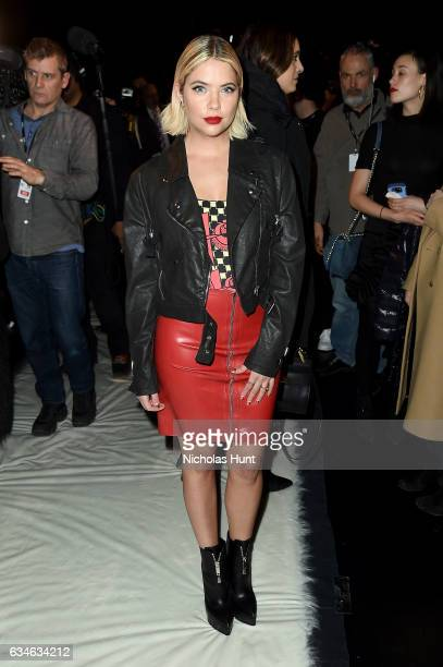Ashley Benson attends the Jeremy Scott collection during New York Fashion Week The Shows at Gallery 1 Skylight Clarkson Sq on February 10 2017 in New...