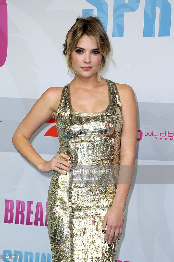 Ashley Benson attends the premiere of ''Spring Breakers' at Sony Center on February 19, 2013 in Berlin, Germany.