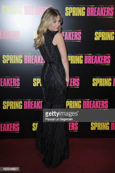 Ashley Benson attends the 'Spring Breakers' Paris Premiere at Le Grand Rex on February 18 2013 in Paris France