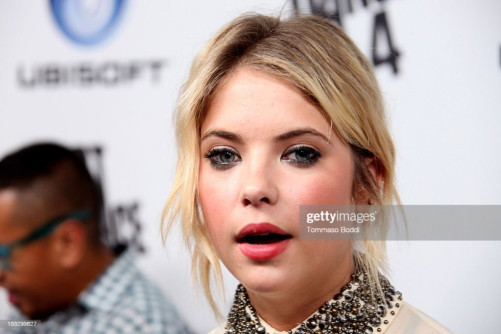 Ashley Benson attends the Ubisoft presents the launch of 'Just Dance 4' held at Lexington Social House on October 2, 2012 in Hollywood, California.