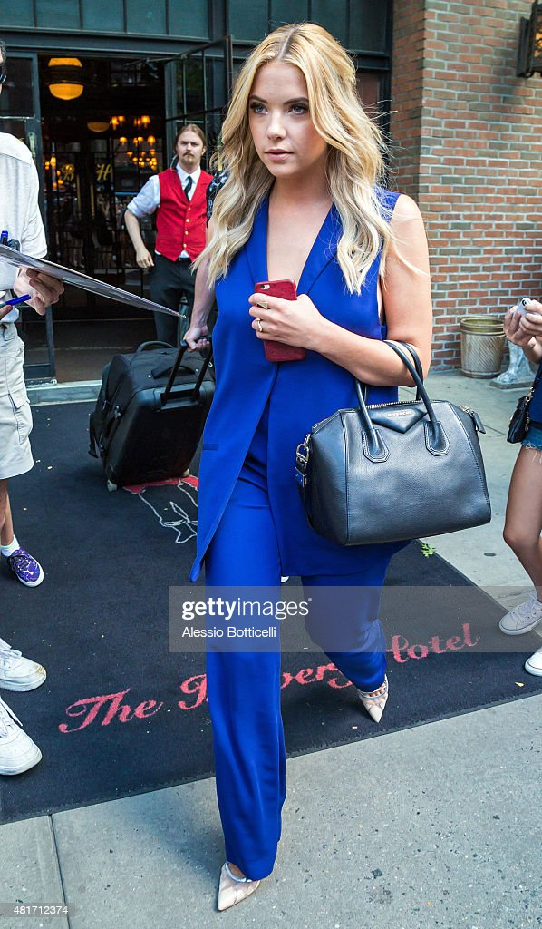 Ashley Benson is seen in East Village on July 23 2015 in New York City